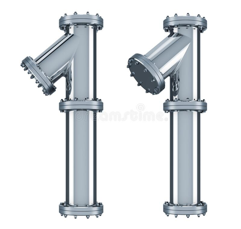 Free Number 1 From Steel Pipes, 3D Rendering Royalty Free Stock Images - 177030989