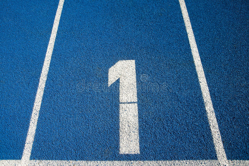 Download Number 1 On A Running Track Stock Image - Image: 13231305