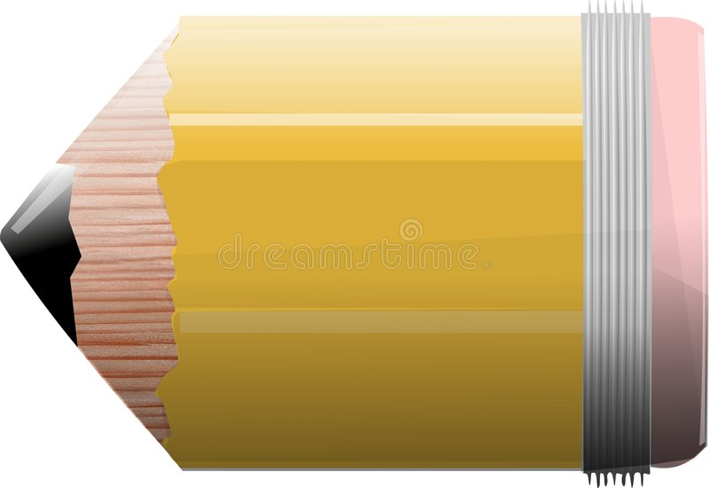 Download Number 2 Stubby stock illustration. Illustration of eraser - 44285