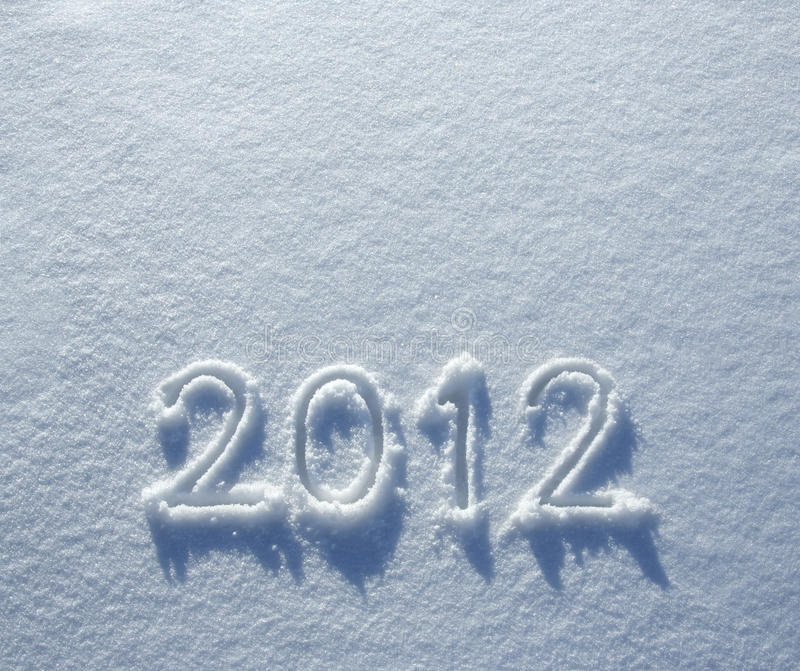 Number 2012 On Snow Royalty Free Stock Photo