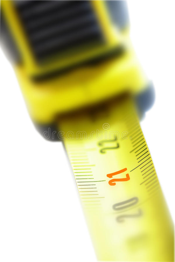 Number 21 on the tape measure royalty free stock photography