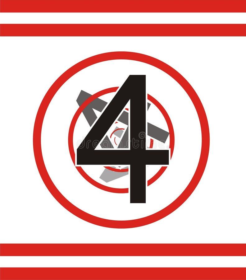 Number 4 stock illustration