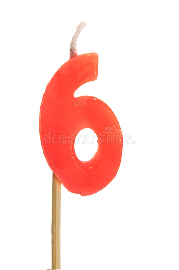 Number 6 stock image