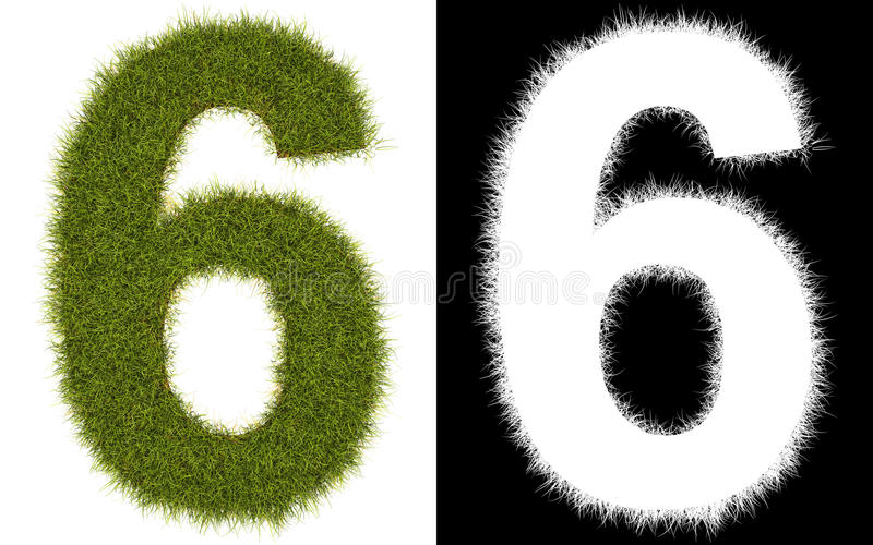 Download Number 6 Of The Grass With Alpha Channel Stock Illustration - Image: 14831296