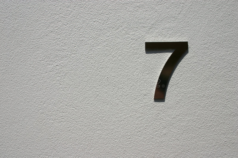 Download Number 7 stock photo. Image of concrete, number, seven - 5925838