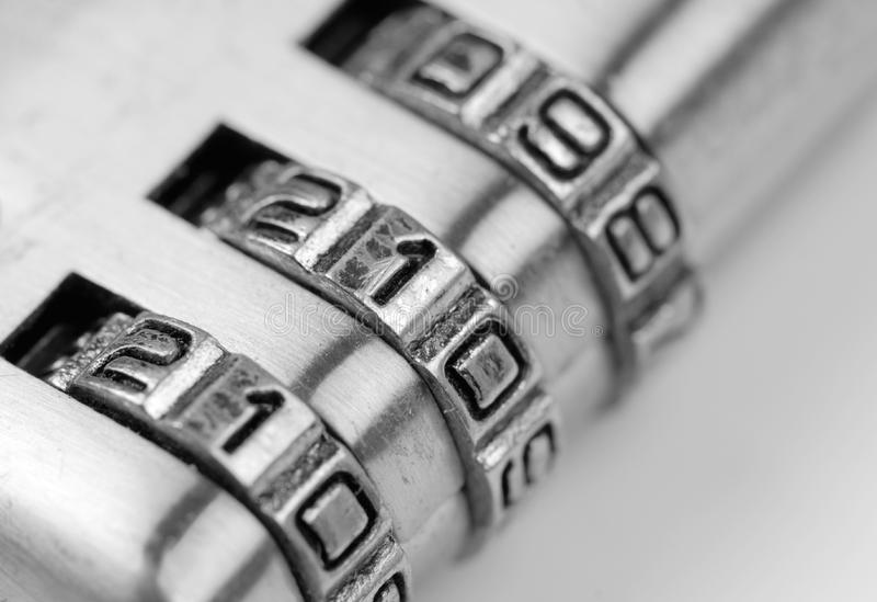 Number 911 on the lock royalty free stock images