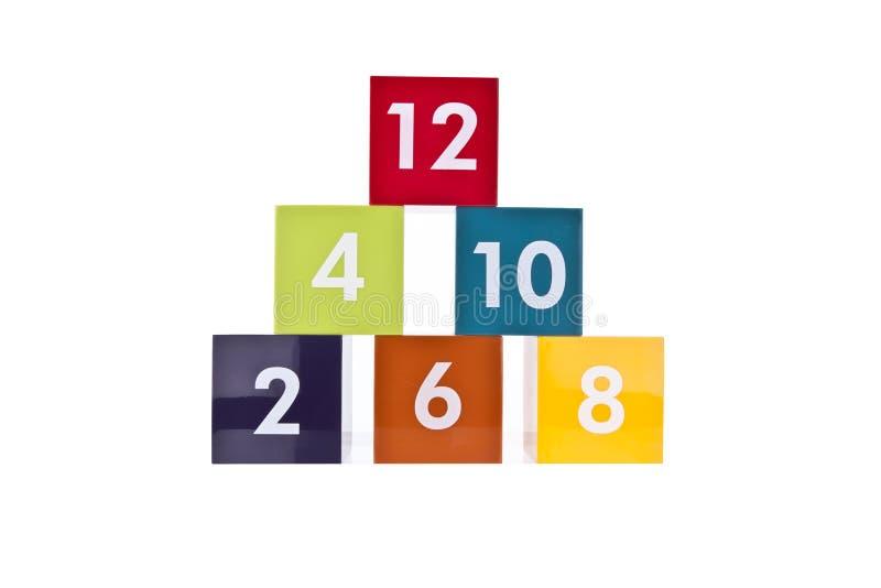 Number Blocks royalty free stock photos
