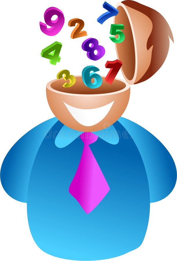 Number Brain Stock Image