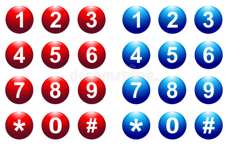 Number button royalty free illustration