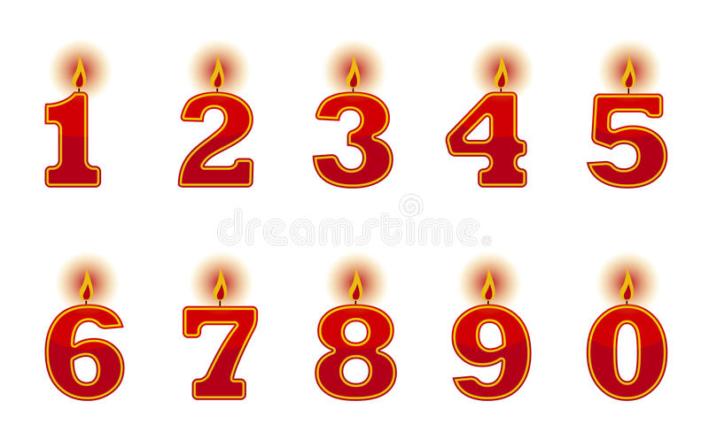 Download Number candles stock vector. Image of decor, nine, holiday - 21491560