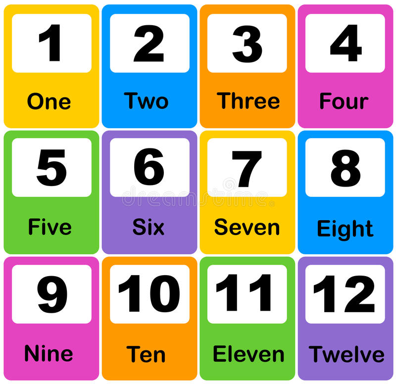 Number cards royalty free illustration