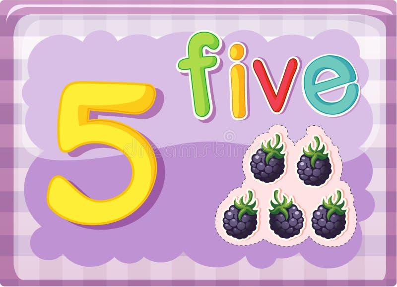 Number cards stock illustration