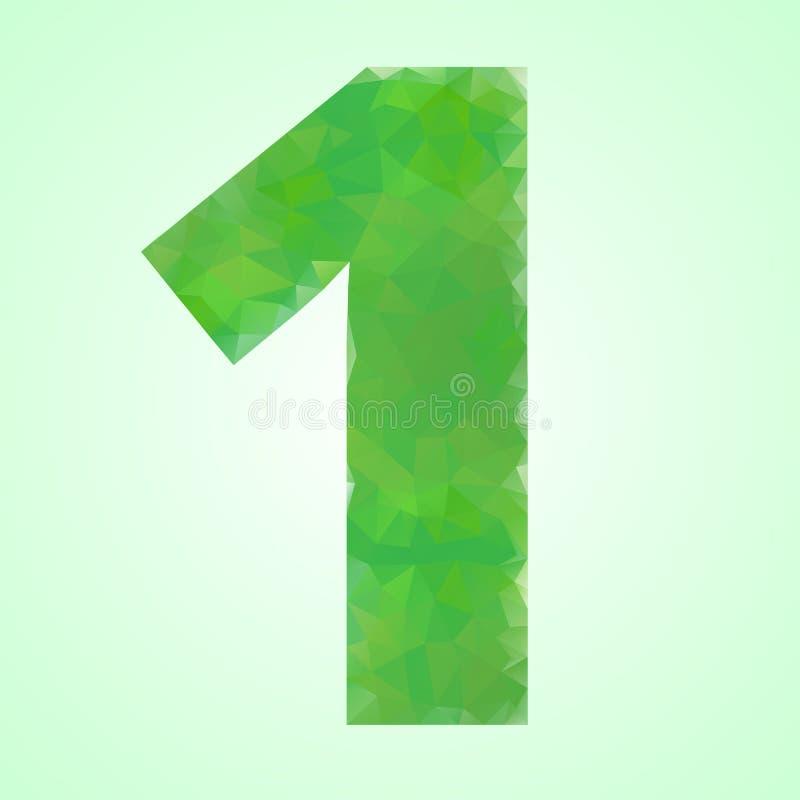 Number 1 Color Green Crystal royalty free illustration
