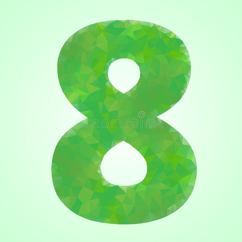 Number 8 Color Green Crystal royalty free illustration