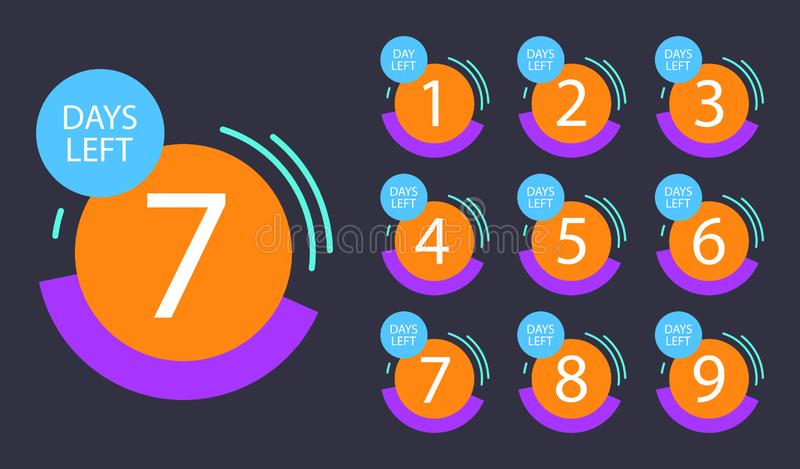 Number of days left badge royalty free illustration