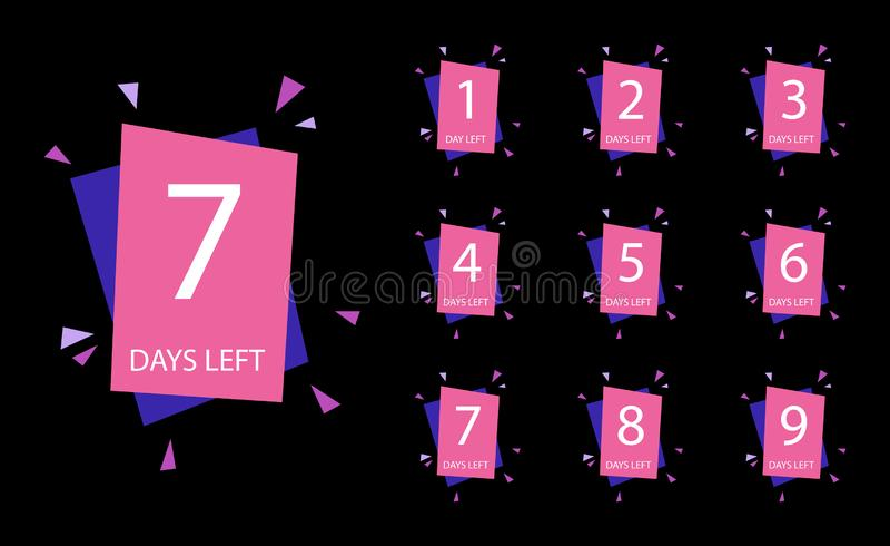 Number of days left badge royalty free illustration
