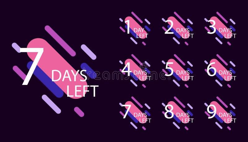 Number of days left badge vector illustration