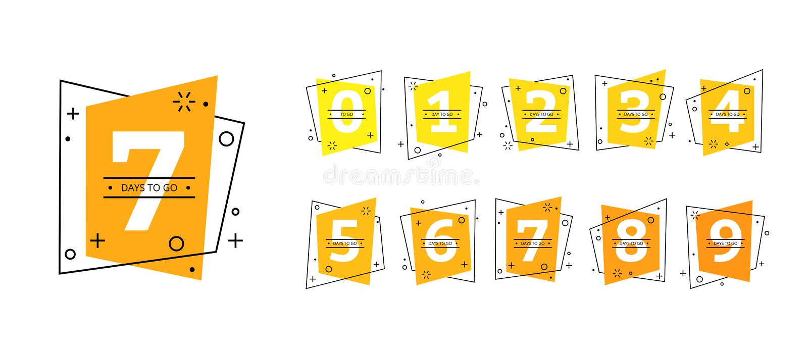 Number of days to go badges last countdown icon vector illustration