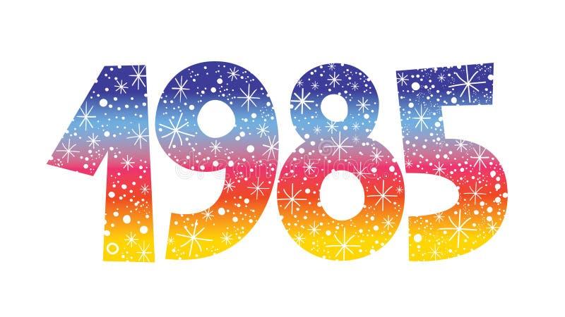 Number 1985 stock vector. Illustration of celebration - 93002644