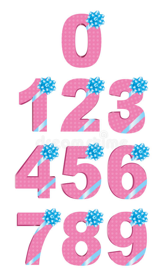 Download Number design stock vector. Image of gift, dimensional - 20488588