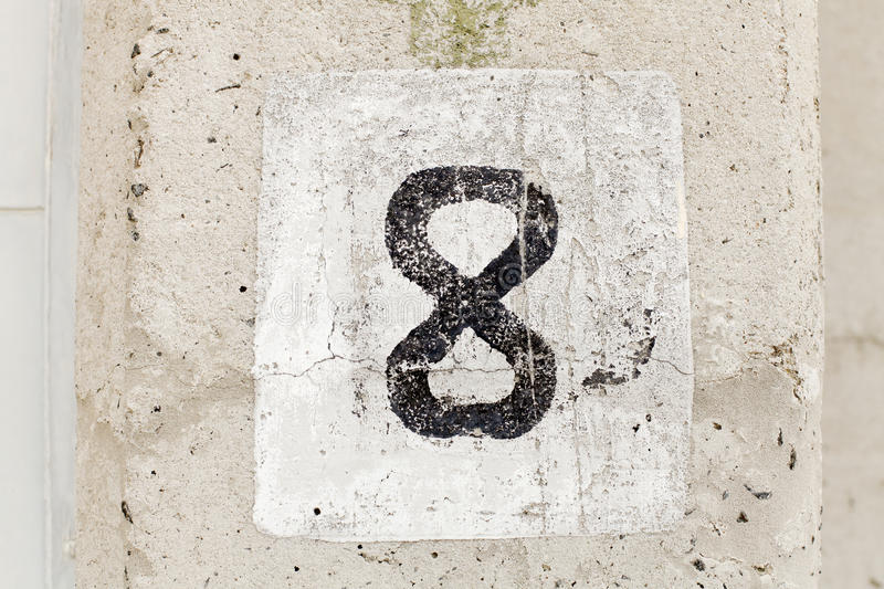 Download Number Eight stock photo. Image of wall, figure, number - 20144236