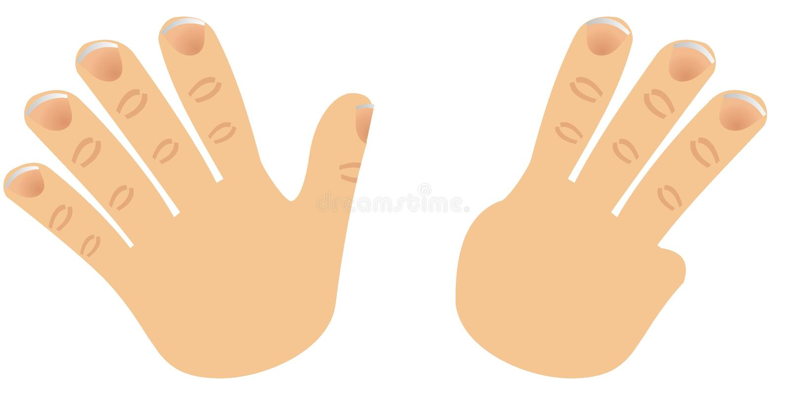 Download Number Eight Made With Fingers Stock Vector - Image: 2662979