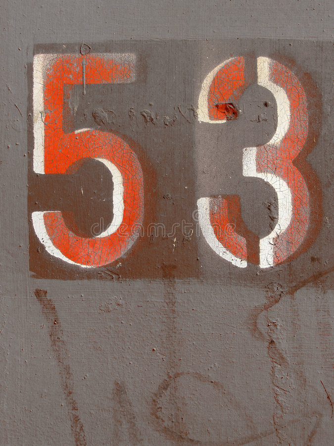 Number fifty three stock photos