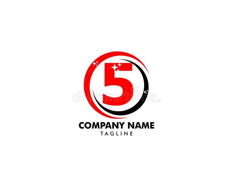 Number five logo, Logo 5 vector template. Logo 5 stock illustration