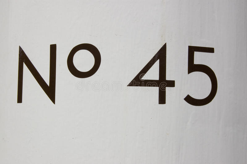Number Forty Five royalty free stock image