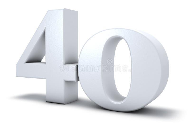Number forty vector illustration