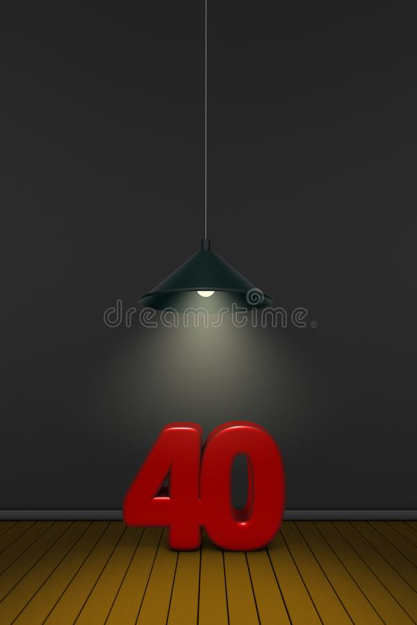 Number forty royalty free illustration