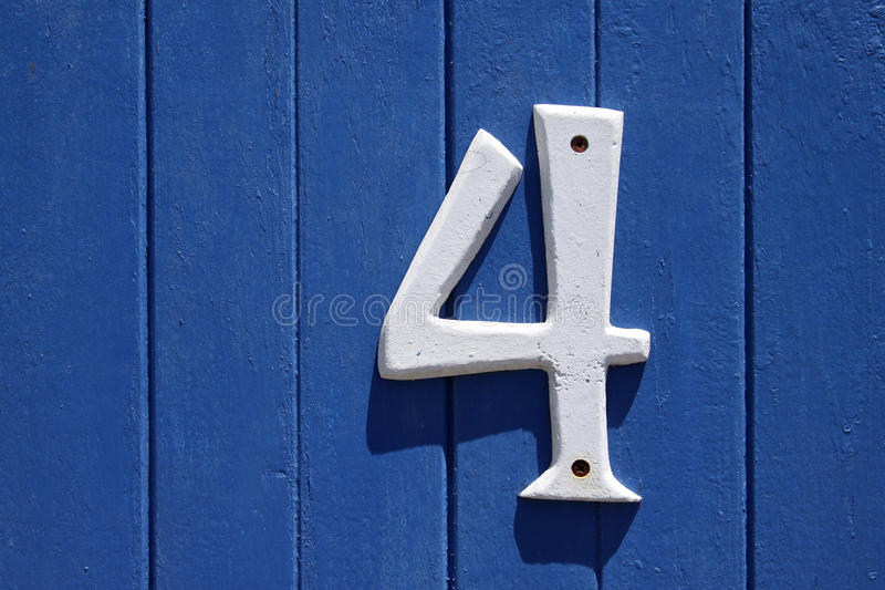 Number four royalty free stock photography