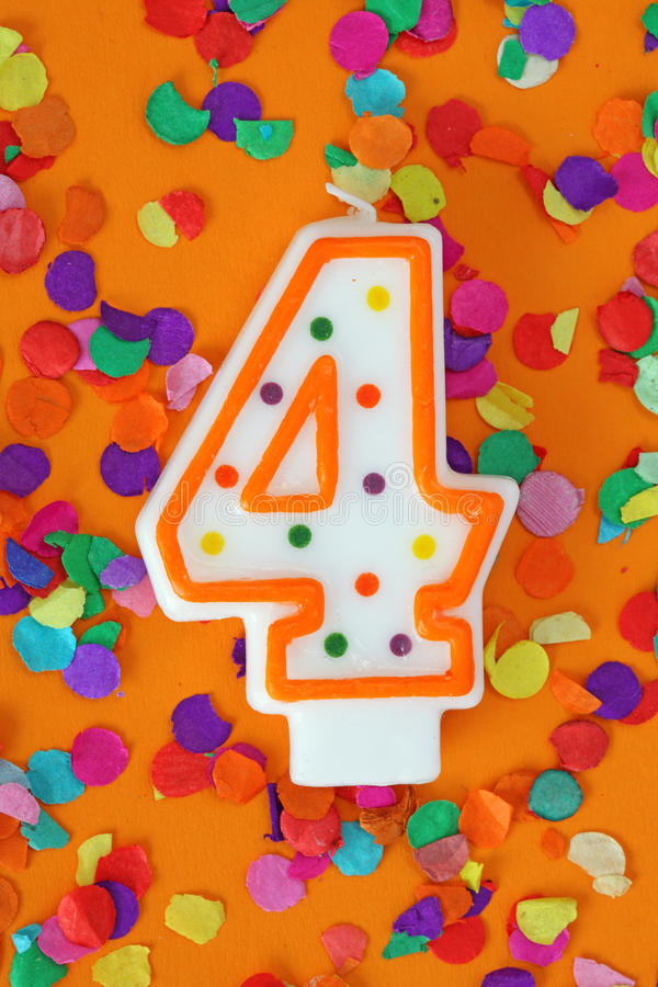 Download Number Four Birthday Candle Stock Image - Image: 12946819