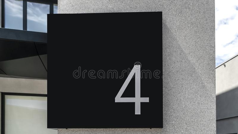 Number Four royalty free stock images
