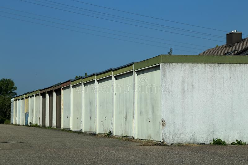 A number of garages royalty free stock photo