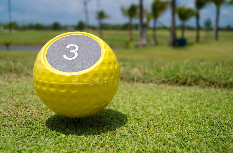 Number of hole in golf stock image