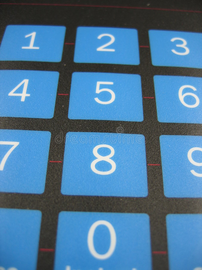 Number keyboard royalty free stock photography
