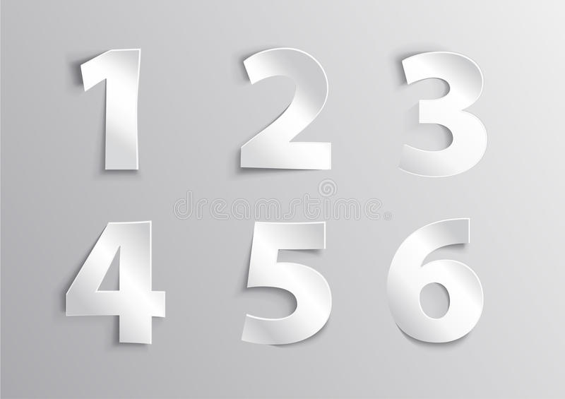 Number letter with shadow stock images