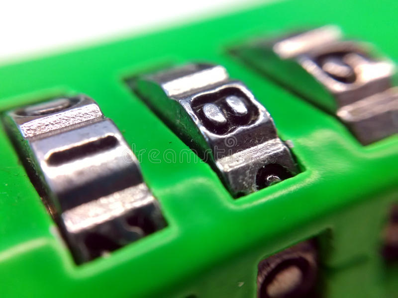 Number Lock royalty free stock photography