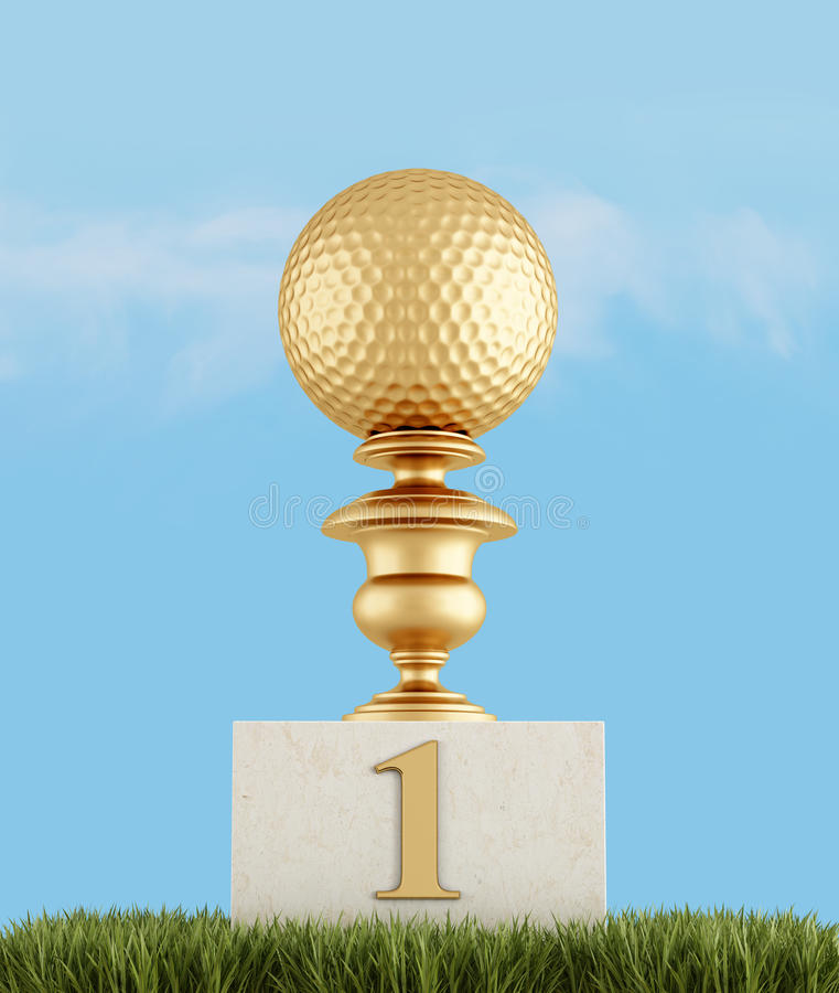 Download Number one in golf stock illustration. Image of award - 27646444