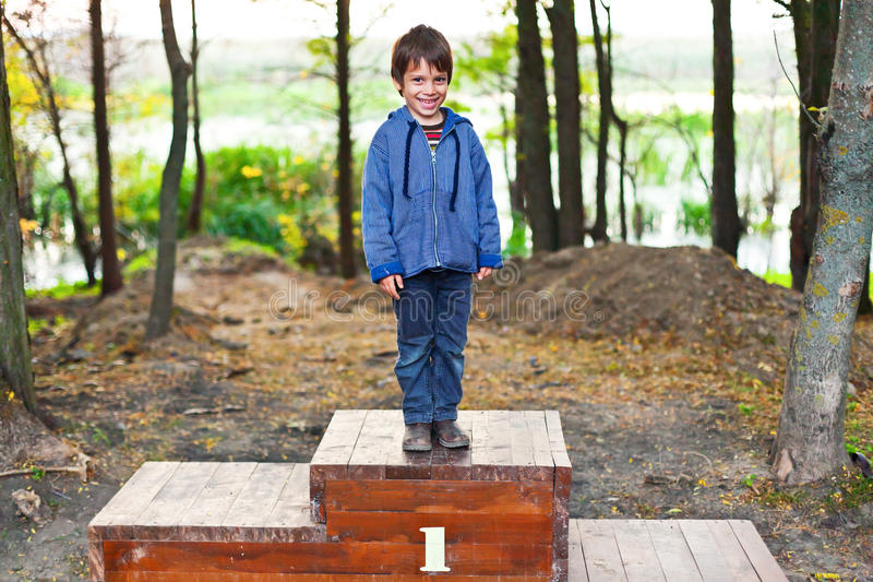 Number one kid royalty free stock images