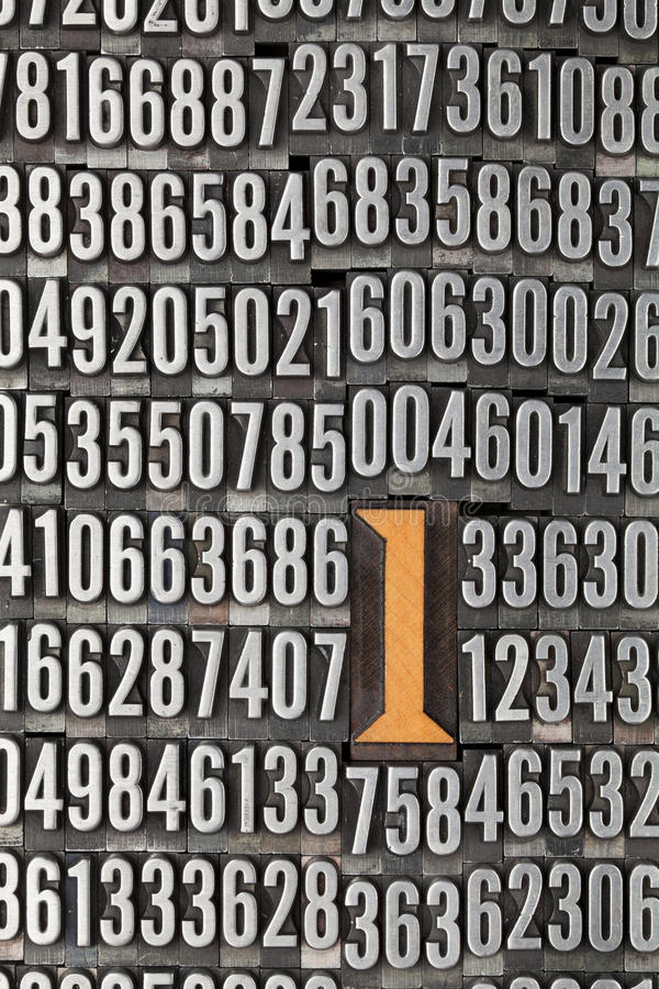 Download Number One - Numerical Background Stock Image - Image: 19924217