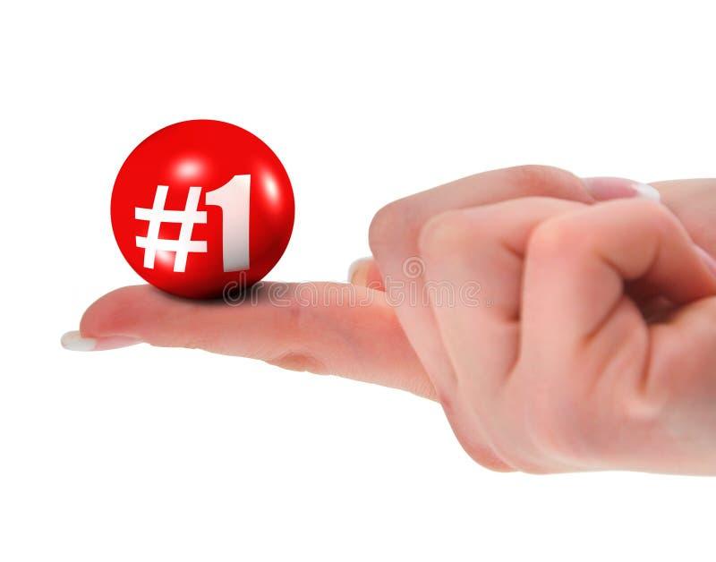 Number one sign on finger stock illustration