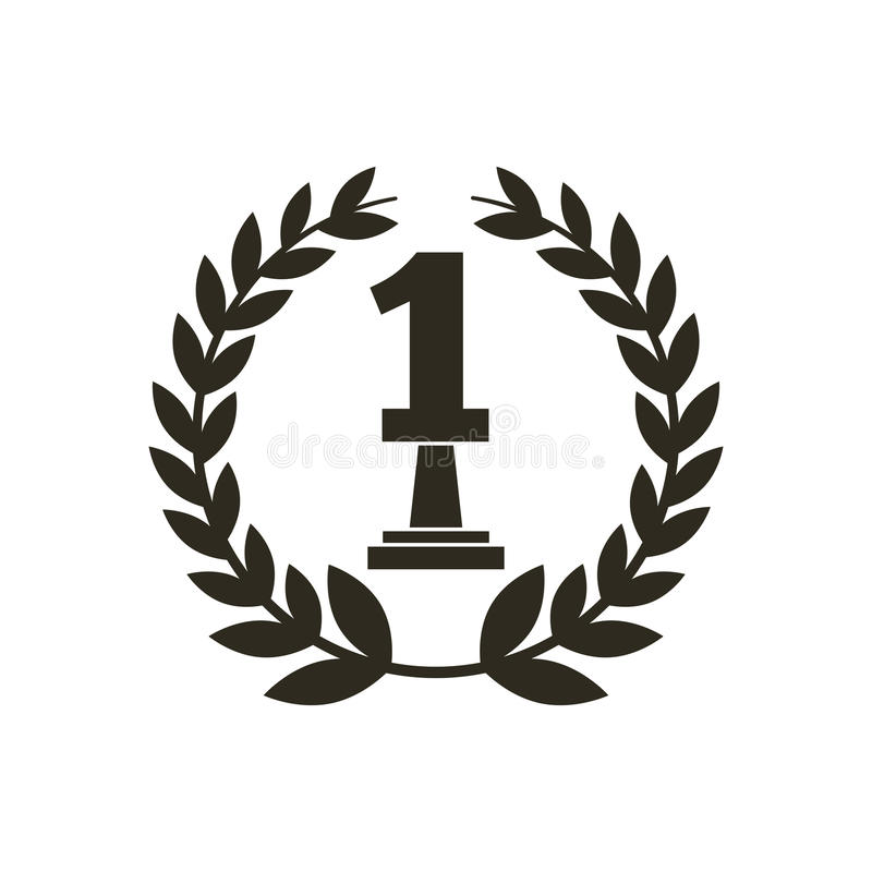 Number one trophy icon vector illustration