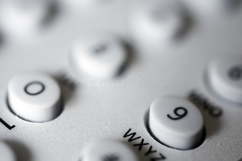 Number pad stock photo