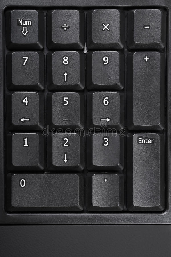 Number pad stock photography