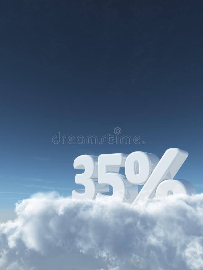 Number and percent symbol stock image