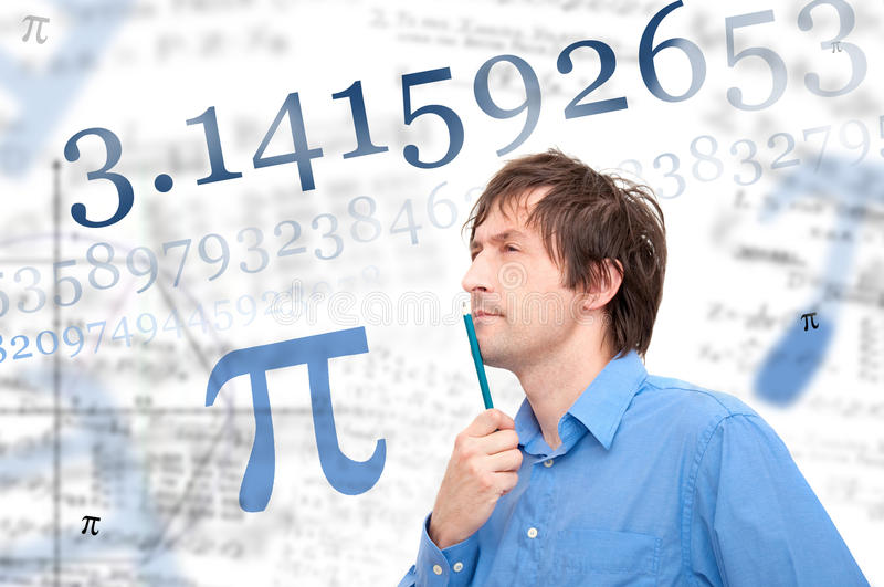 Number Pi Stock Image