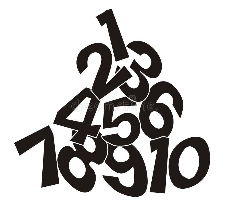 Number pile stock illustration