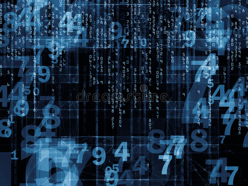 Number Propagation stock image